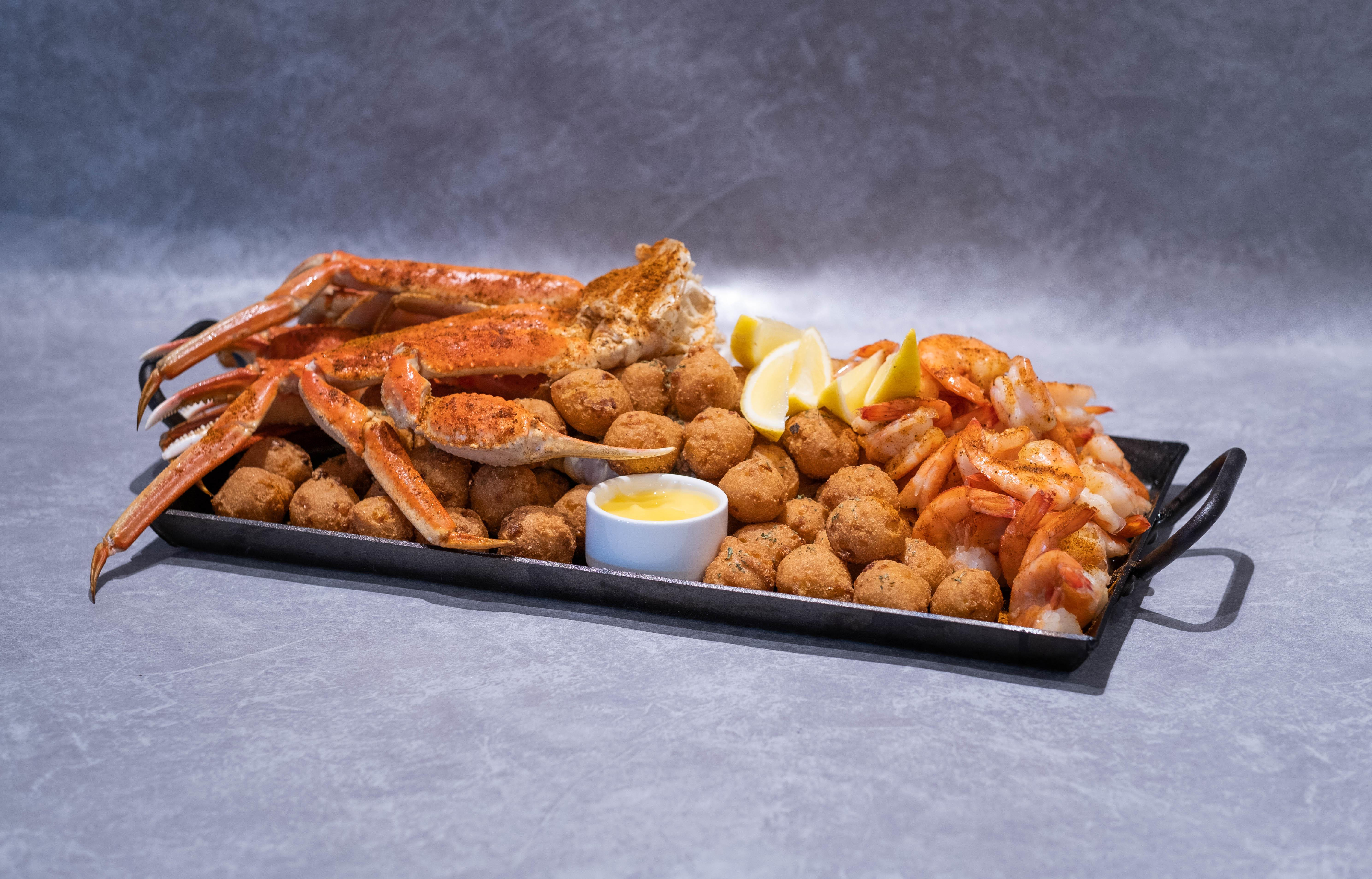 Variety of seafood platter